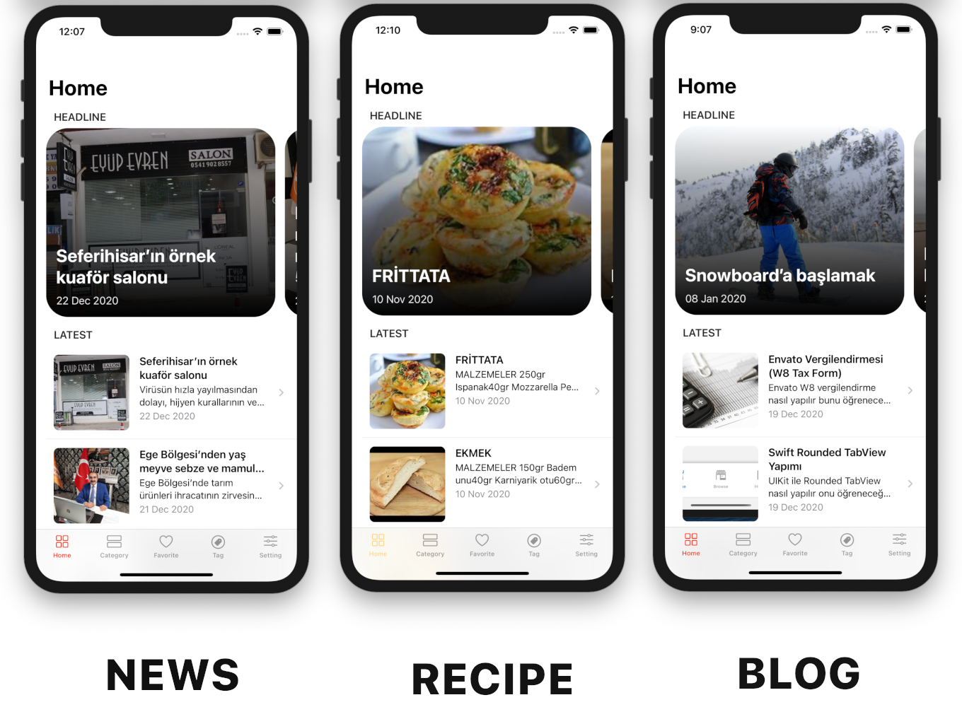 Blog and News SwiftUI iOS App for WordPress Site with AdMob, Firebase Push Notification and Widget - 12