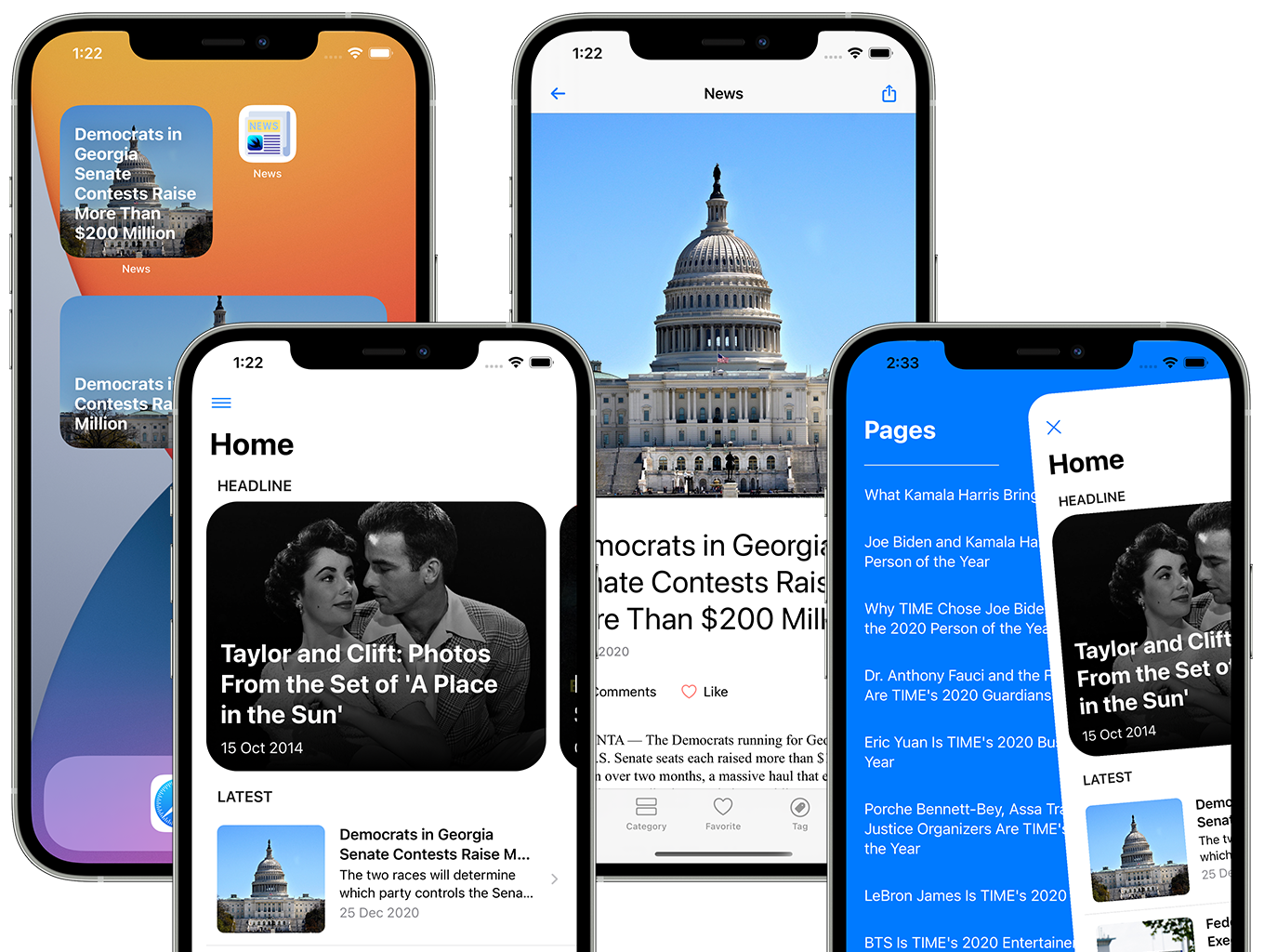 Blog and News SwiftUI iOS App for WordPress Site with AdMob, Firebase Push Notification and Widget - 13